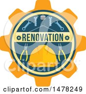 Clipart Of A Tools And Renovating Design Royalty Free Vector Illustration