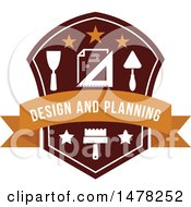 Clipart Of A Design And Planning Design Royalty Free Vector Illustration