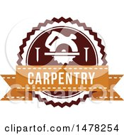 Clipart Of A Carpentry Design Royalty Free Vector Illustration