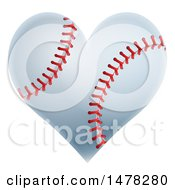 Poster, Art Print Of Baseball In The Shape Of A Heart