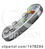 Clipart Of A Video Game Controller Royalty Free Vector Illustration by AtStockIllustration