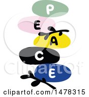 Colorful Balanced Stones Spelling Out Peace