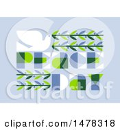 Clipart Of A Dove With An Olive Branch And Peace Day Text Over Blue Royalty Free Vector Illustration