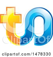 Clipart Of A Letter T O Design Royalty Free Vector Illustration
