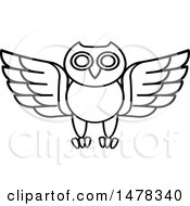 Clipart Of A Black And White Owl Royalty Free Vector Illustration by Lal Perera