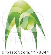 Clipart Of A Green Abstract Person Exercising Royalty Free Vector Illustration by Lal Perera