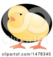Clipart Of A Yellow Chick Over A Black Egg Royalty Free Vector Illustration by Lal Perera