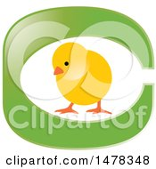 Clipart Of A Yellow Chick In The Letter C Royalty Free Vector Illustration by Lal Perera