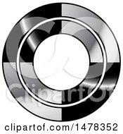 Clipart Of A Silver And Black Circle Design Royalty Free Vector Illustration by Lal Perera