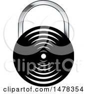 Clipart Of A Padlock Design Royalty Free Vector Illustration by Lal Perera