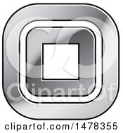 Clipart Of A Silver Square Design With Rounded Corners Royalty Free Vector Illustration
