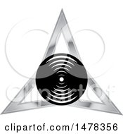 Clipart Of A Circle And Triangle Design Royalty Free Vector Illustration