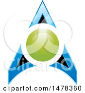 Clipart Of A Circle And Arrow Design Royalty Free Vector Illustration by Lal Perera