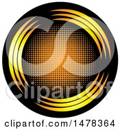 Clipart Of A Black And Orange Circle Design Royalty Free Vector Illustration by Lal Perera