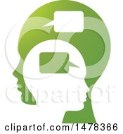 Clipart Of Profiled Heads With Speech Balloons Royalty Free Vector Illustration by Lal Perera