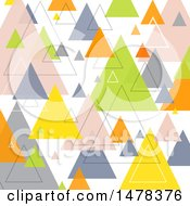 Clipart Of A Geometric Retro Pyramid Or Triangle Background Royalty Free Vector Illustration