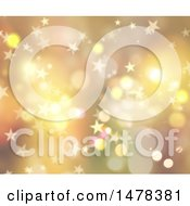 Clipart Of A Background Of Flares And Stars Royalty Free Illustration