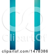 Clipart Of A Blue And White Business Card Template Royalty Free Vector Illustration