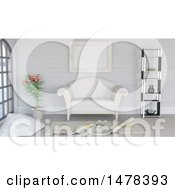 Clipart Of A 3d Lounge Interior Royalty Free Illustration