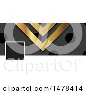 Clipart Of A Gold Black And Gray Metal Social Media Cover Banner Design Element Royalty Free Vector Illustration