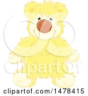 Yellow Hairy Teddy Bear