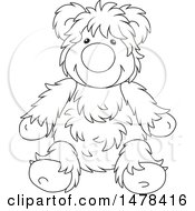 Black And White Hairy Teddy Bear