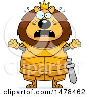 Chubby Scared Lion Knight
