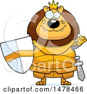 Chubby Lion Knight Waving