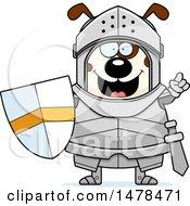 Chubby Dog Knight With An Idea