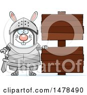 Chubby Rabbit Knight By Wood Signs