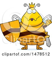 Chubby Queen Bee In Armor Waving