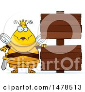 Chubby Queen Bee In Armor By Wood Signs