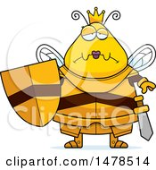 Chubby Sad Queen Bee In Armor