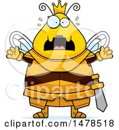 Chubby Scared Queen Bee In Armor