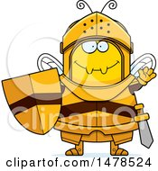 Chubby Bee Knight Waving