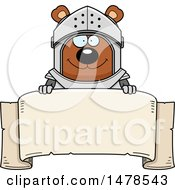 Chubby Bear Knight Over A Banner