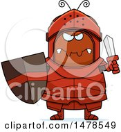 Clipart Of A Chubby Mad Ant Knight Royalty Free Vector Illustration