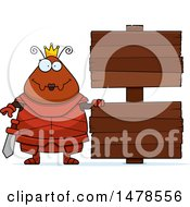 Poster, Art Print Of Chubby Queen Ant In Armor By Wood Signs