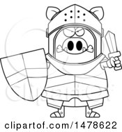 Chubby Outline Mad Boar Knight