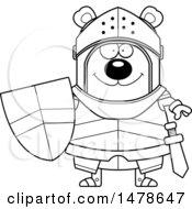 Chubby Lineart Bear Knight