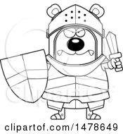 Chubby Lineart Mad Bear Knight