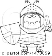 Chubby Outline Mad Ant Knight