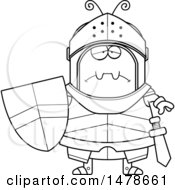 Chubby Outline Sad Ant Knight