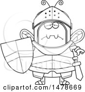 Chubby Outline Sad Bee Knight