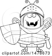 Chubby Outline Bee Knight With An Idea