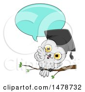 Clipart Of A Cute Professor Owl Talking Royalty Free Vector Illustration by BNP Design Studio