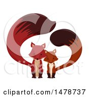 Clipart Of A Cute Fox Couple Royalty Free Vector Illustration by BNP Design Studio