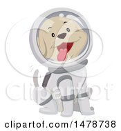 Clipart Of A Happy Dog Astronaut Wagging His Tail Royalty Free Vector Illustration by BNP Design Studio