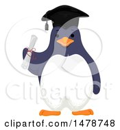 Clipart Of A Graduate Penguin Holding A Diploma Royalty Free Vector Illustration by BNP Design Studio