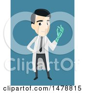 Clipart Of A Male Doctor With An Artificial Arm Royalty Free Vector Illustration